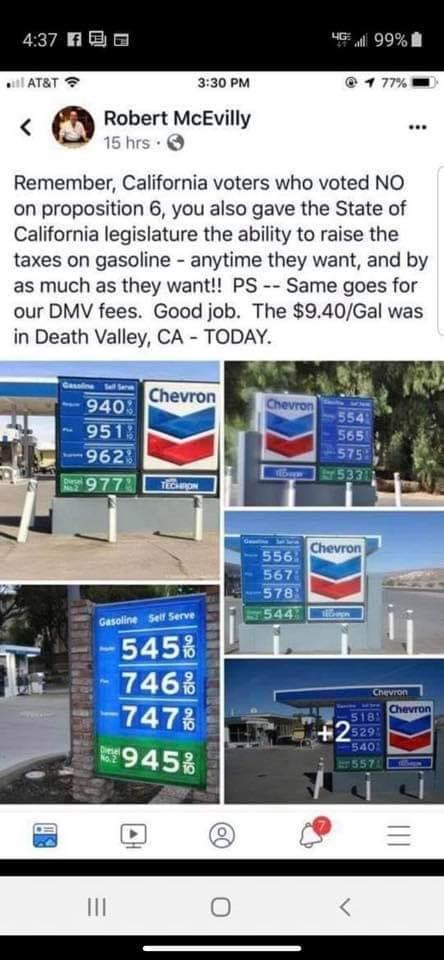 Gas Prices In California >> Armand S Rancho Del Cielo California Gasoline Prices