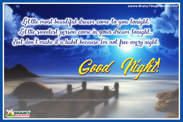Good Night English messages, Online English Good Night Quotes, Good Night Wishes for Family