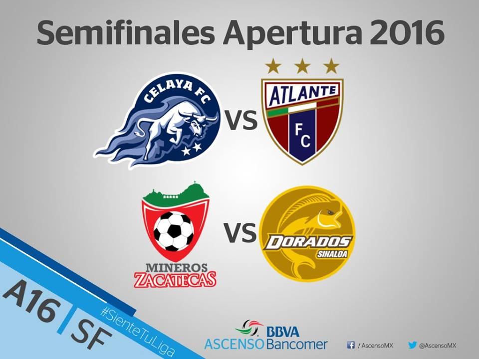 Semifinales ascenso MX apertura 2016