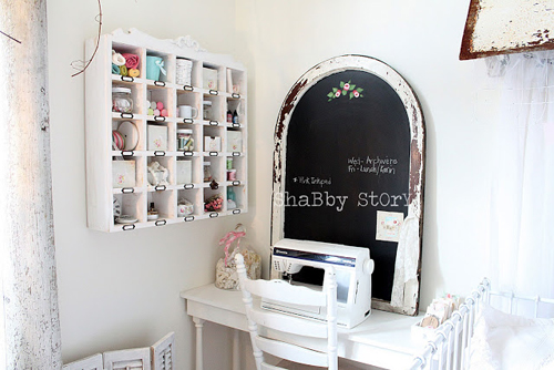 craft room final 049 Bright Shabby Chic Interior Inspiration | Living with White from Shabby Story Blog