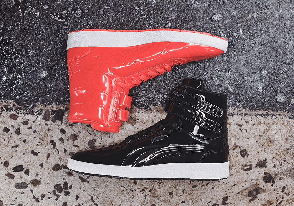 sale retailer c7fb1 551fb PUMA gets glossy this summer with an all-new patent leather pack, featuring  two classic basketball silhouettes in shiny and tonal looks.