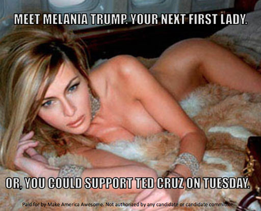 Donald Trump's wife Melania poses naked