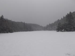 Mont Sutton, lac Mohawk l'hiver