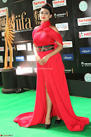 Apoorva in a Stunning Tight Leg Split Sleeveless Red Gown at IIFA Utsavam Awards 65.JPG