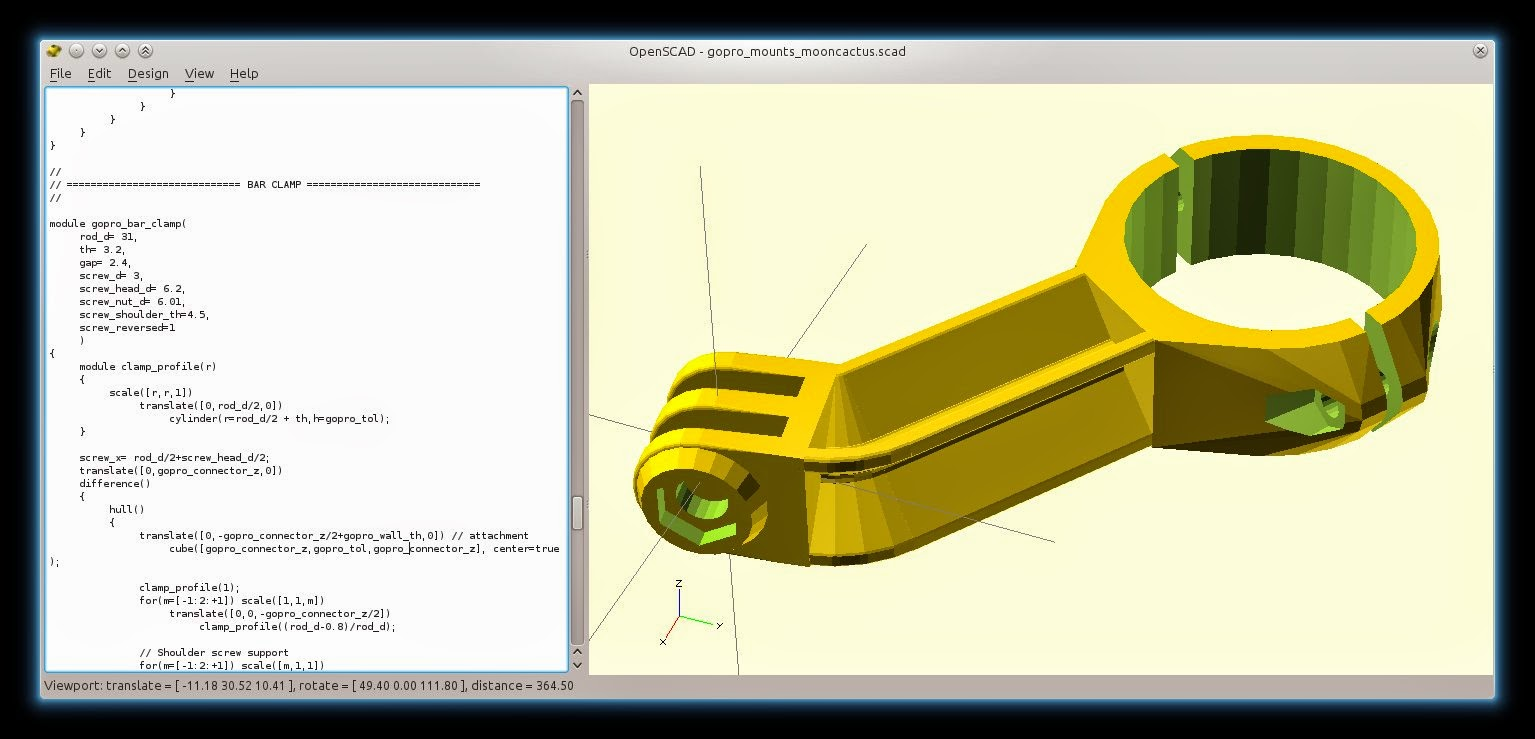 Drawing Lines In Openscad : D printer improvements how to use openscad tricks