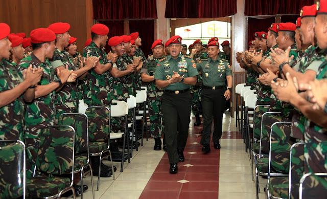 Panglima TNI : Jalin Hubungan Hakiki Antara Komandan dan Bawahan