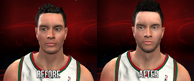 NBA 2K13 J.J. Redick Face Comparison 2K vs Mod