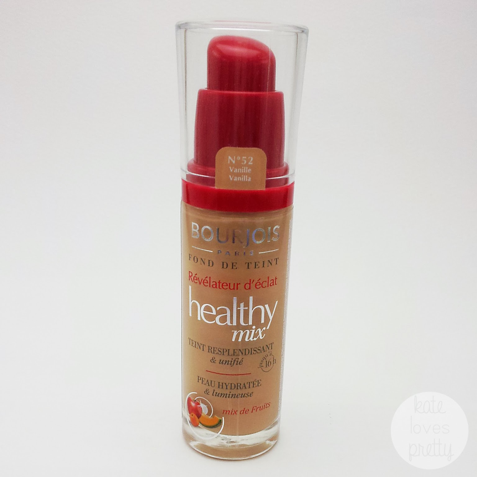 Kate Loves Pretty Review Bourjois Healthy Mix Radiance Reveal Foundation In 52 Vanilla