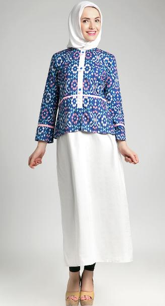 Gambar Desain Baju Hamil Muslim Batik Masa Kini