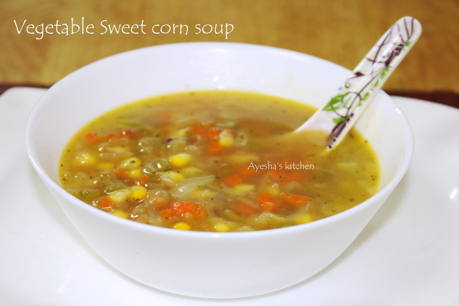 Vegetable sweet corn soup recipe sweet corn veg soup for Easy tasty soup recipes