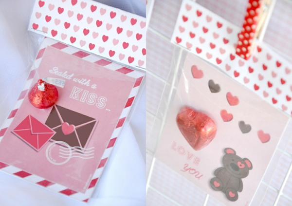 DIY Valentine's Party Favors Candy Bags - via BirdsParty.com