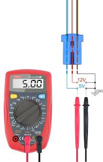 hondash dlc connector 3 pin voltage levels