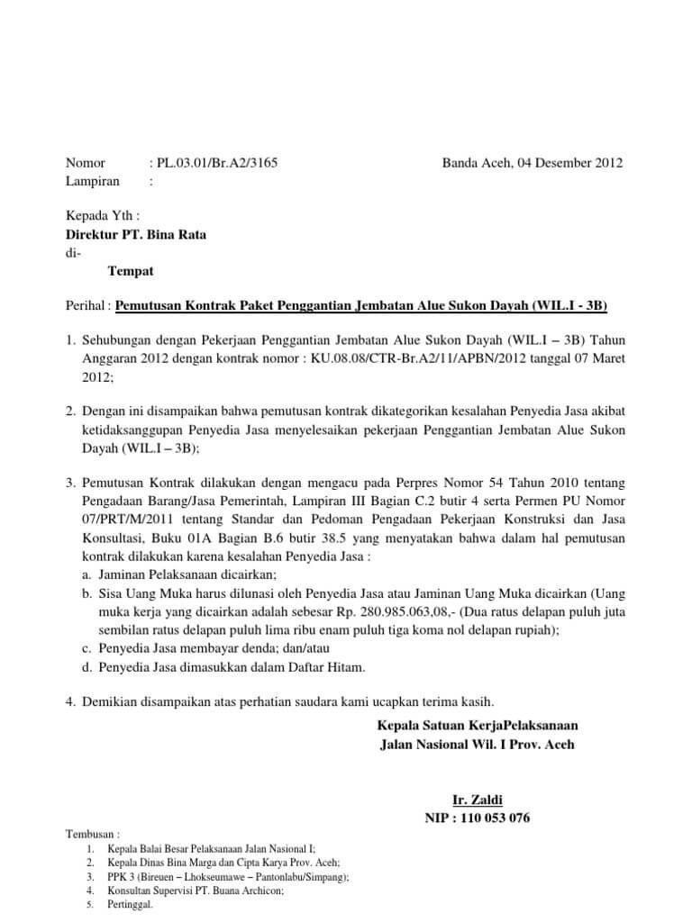 Contoh Surat Perjanjian Bersama Phk Suratmenyurat Net