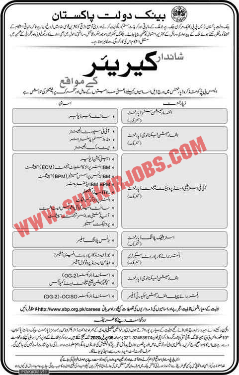 State Bank of Pakistan Jobs April 2020 Online Apply SBP Latest