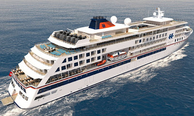 Artists Rendering of Hapag-Lloyd's New Exploration Ship Hanseatic.