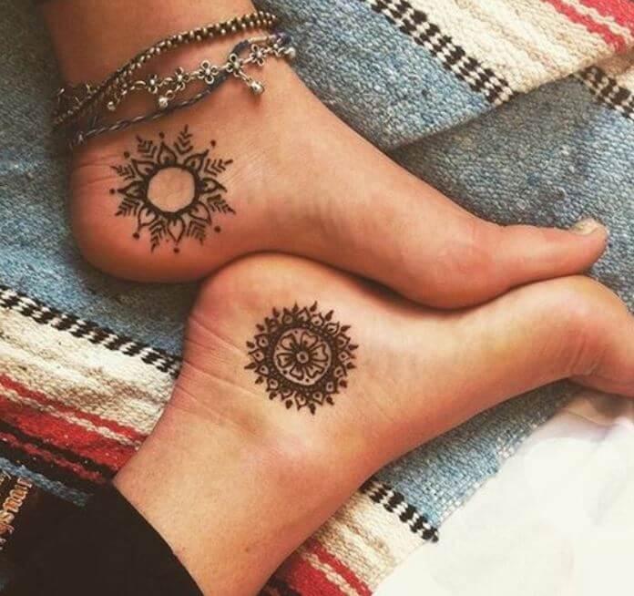 Mandala Ankle Tattoo