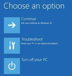 Memperbaiki Startup Gagal pada Windows 10