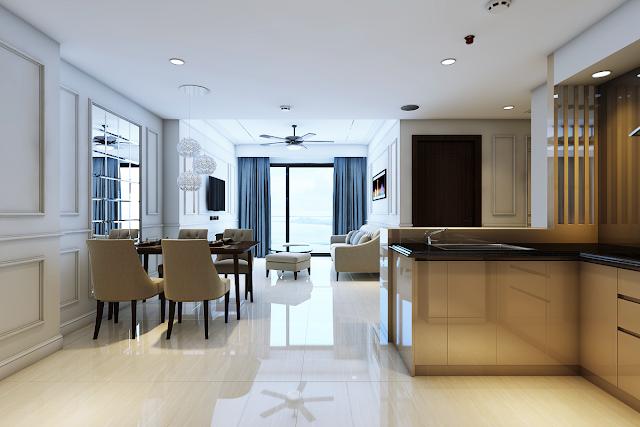 Phòng khách của Luxury Apartment