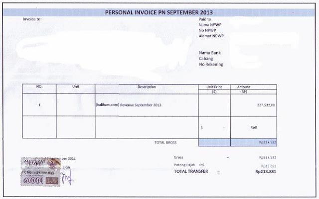 Contoh Invoice Tagihan Sewa Mobil Itu Contoh