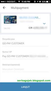 cara mengisi go pay gojek