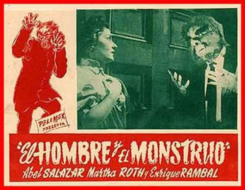 El Hombre y el Monstruo, Lobby Card publicitario