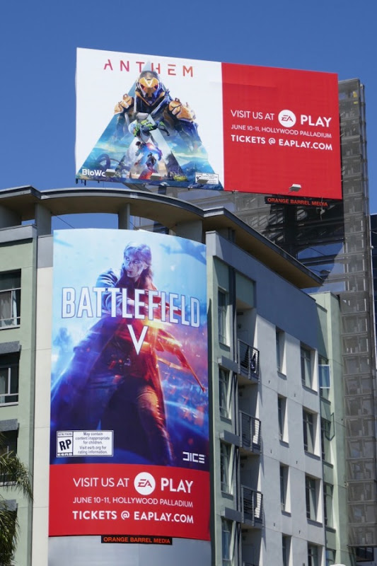 Anthem Battlefield V EA Play billboards