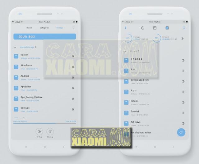 Download Link MIUI Theme Sour Blue Edition Mtz For Xiaomi Redmi: