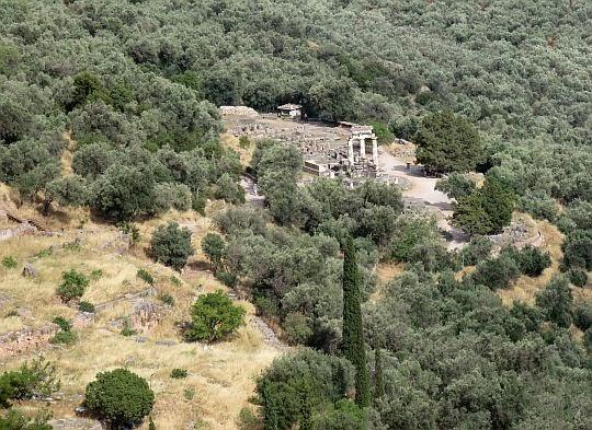 Widok na Świątynię Ateny.
