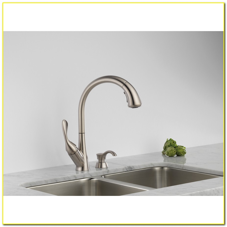 Kitchen Faucets Lowes - Delta Ashton Stainless 1-handle Pull ...