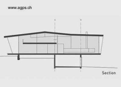 Plano arquitectónico de una sección de la casa