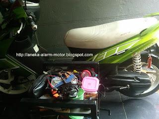 Cara pasang alarm motor Mio Soul Karbu