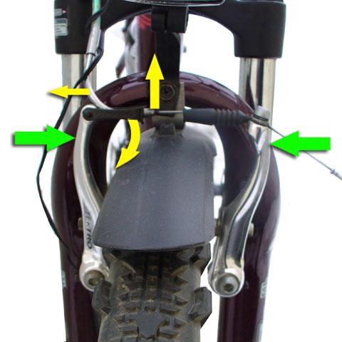переднее колесо велосипеда