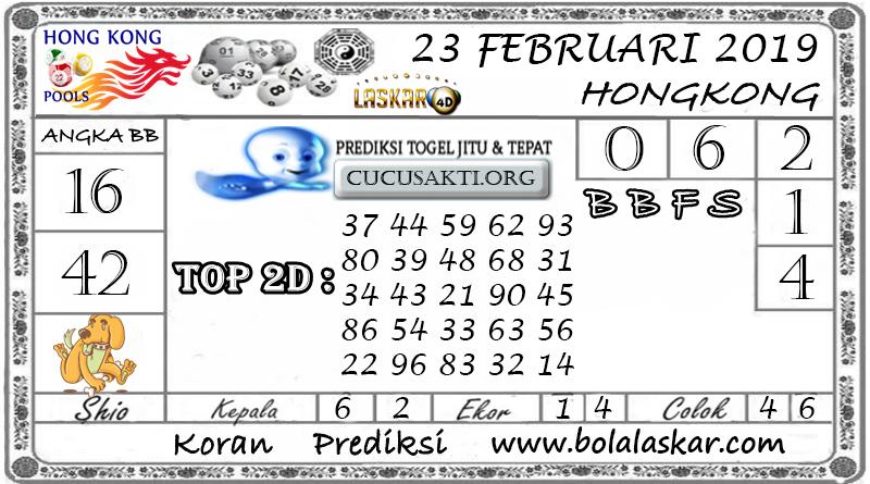 Prediksi Togel HONGKONG LASKAR4D 23 FEBRUARI 2019