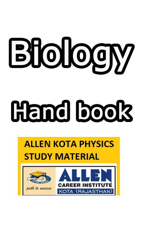 Download Allen Biology Handbook Material Full Pdf - NEET