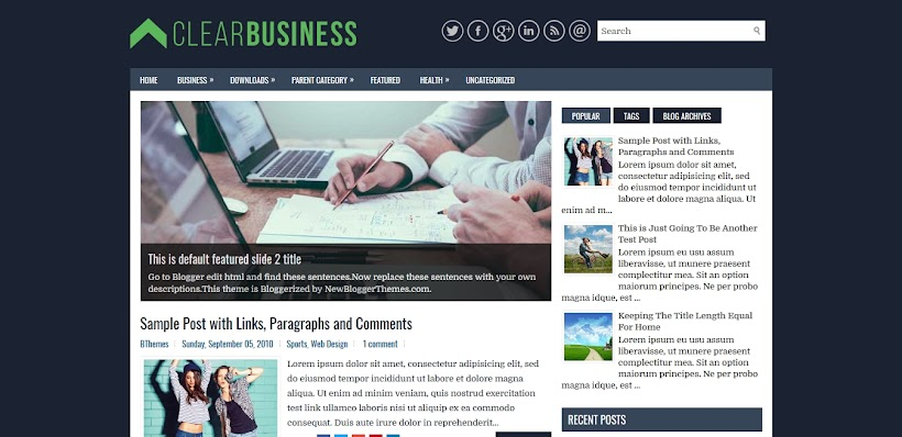 ClearBusiness Free Blogger Template