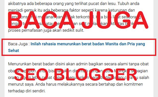 Cara buat Link BACA JUGA yang SEO di dalam Postingan Blog