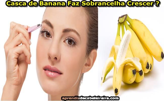 Como Fazer a Sobrancelha Crescer Rápido com Casca de Banana