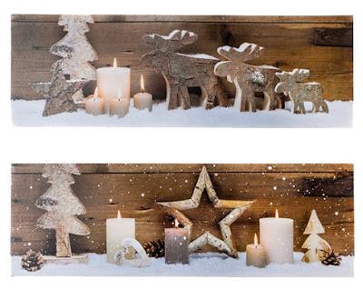 Set 2 cuadros LEDs Navidad
