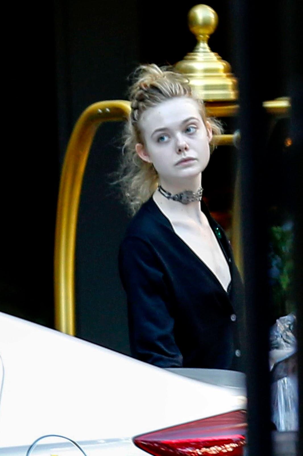 Elle Fanning Leaving Her Hotel in New Orleans, October 29, 2016