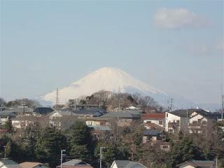 八雲神社からの富士