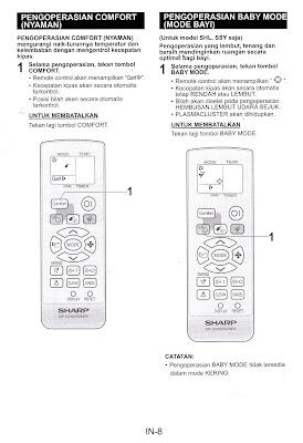 Manual Book : Petunjuk Penggunaan AC Sharp AH-A5SEY