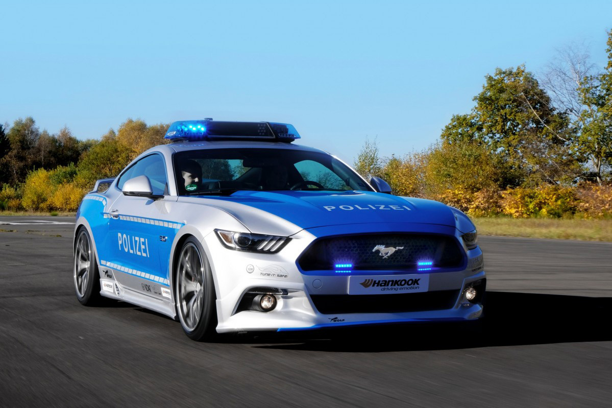 Hd Tune Up Cars Wallpaper Ford Mustang Transformed Into A German Police Car At Essen