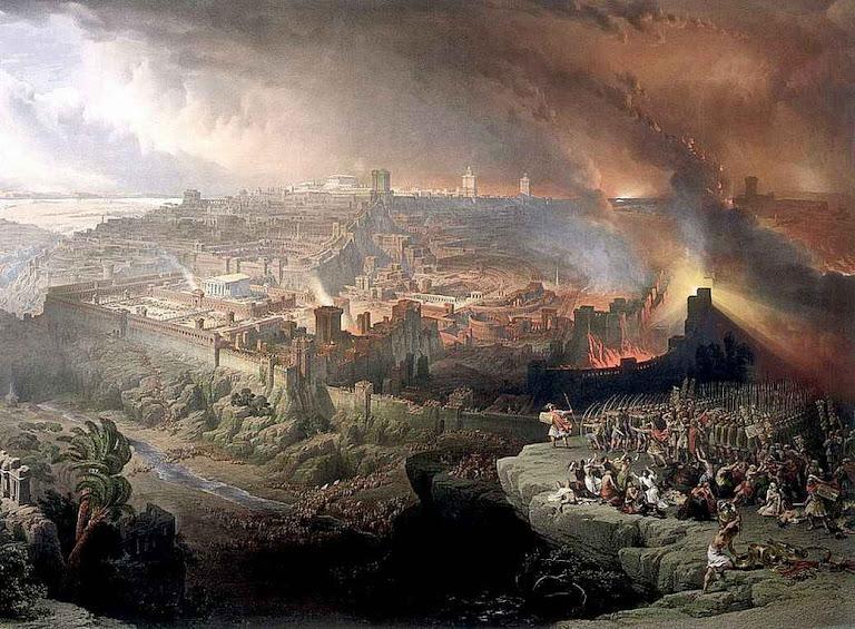 A destruição de Jerusalém foi prefigura das crises trágicas da História. David Roberts (1796 – 1864)