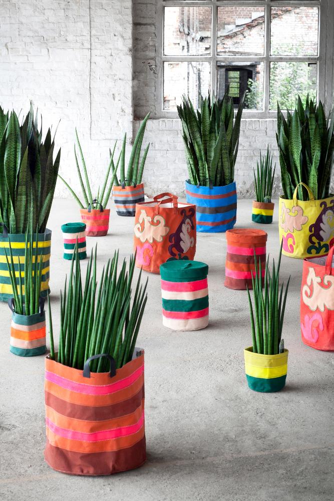 sacos para colocar plantas-ideias para varandas e sacadas