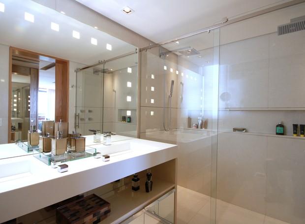 Construindo Minha Casa Clean Banheiros com Espelhos Flutuantes e Iluminados! -> Banheiro Planejado Valor