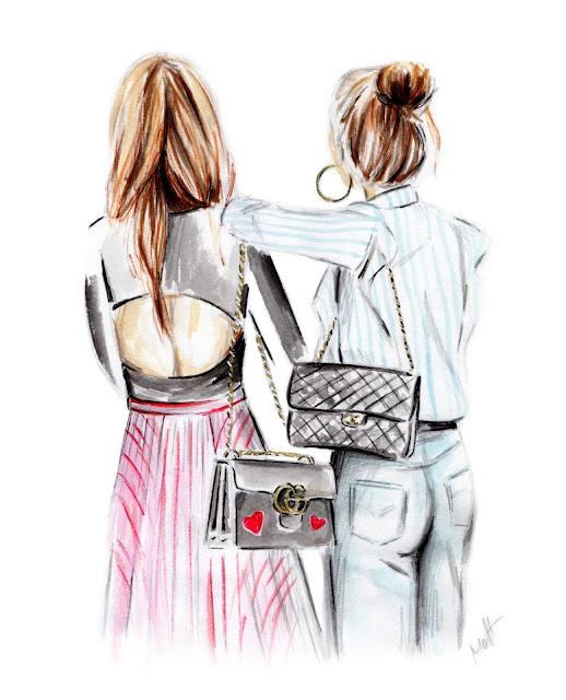 street style girls illustration