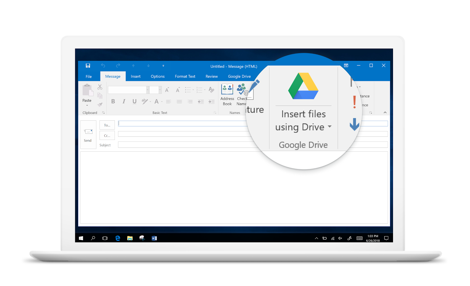 G Suite Updates Blog: Launching new Google Drive / Microsoft Outlook