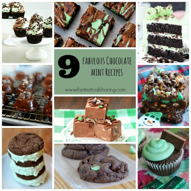 9 Fabulous Chocolate Mint Recipes for National Chocolate Mint Day on February 19th #mint #chocolate #dessert #sweettooth