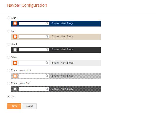 Navbar Configurations