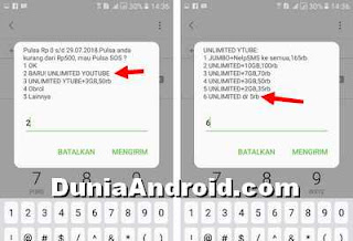 Cara Beli kuota Unlimited Youtube